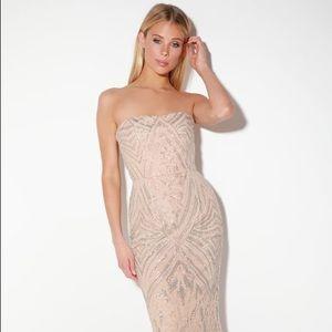 Dress the Population Gretta Strapless Sequin Dress